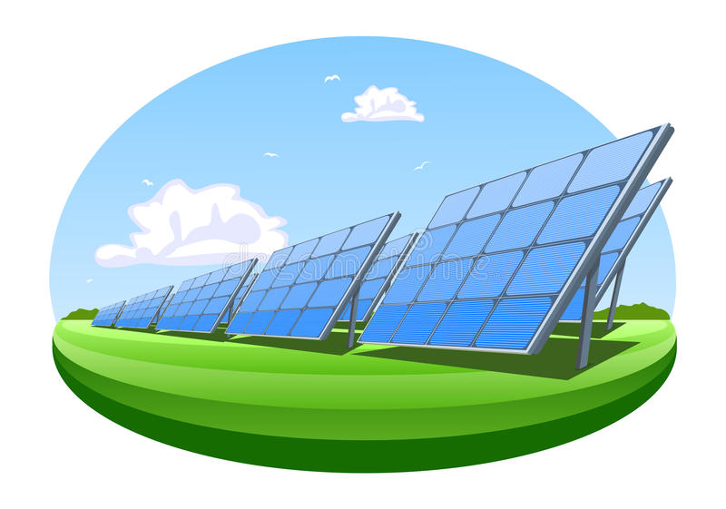 Download Solar panels stock vector. Image of building, outline - 24345467