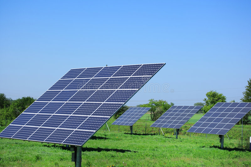 Download Solar panels stock image. Image of copy, meadow, panel - 5406461
