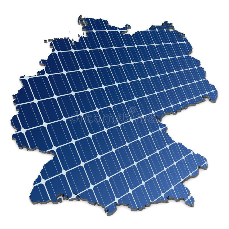 Download Solar Panels In An Abstract Map Of Germany Royalty Free Stock Images - Image: 18002939