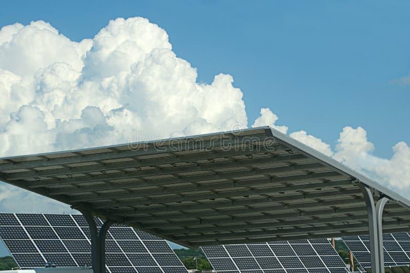 Download Solar Panels Against Blue Sky Stock Illustration - Image: 31927617