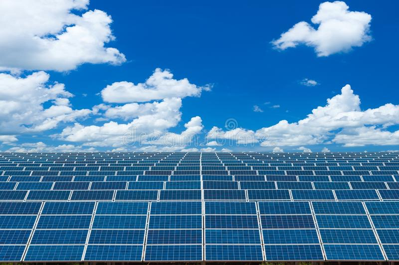 Solar Panels Against stock images