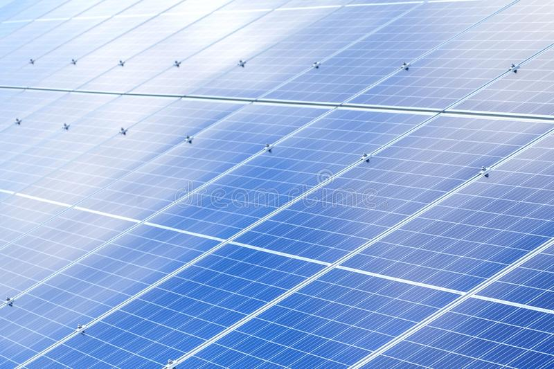 Solar panels background. Photovoltaic renewable energy source.  royalty free stock photo