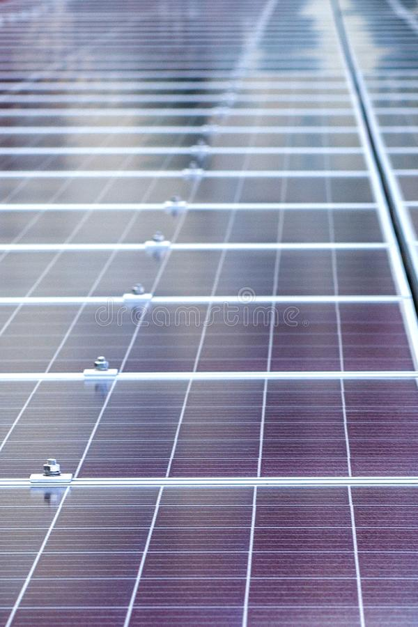 Solar panels background. Photovoltaic renewable energy source.  stock photo