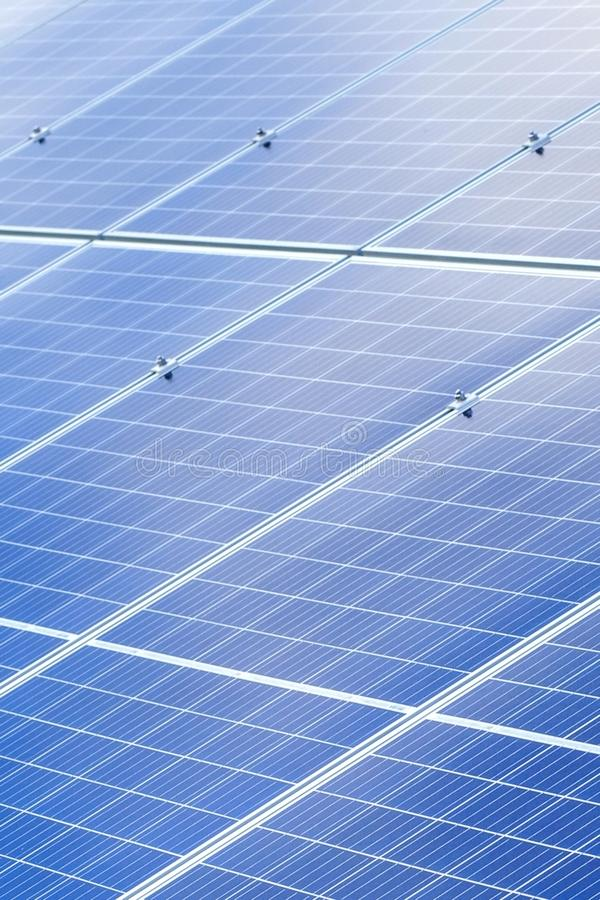 Solar panels background. Photovoltaic renewable energy source.  stock image