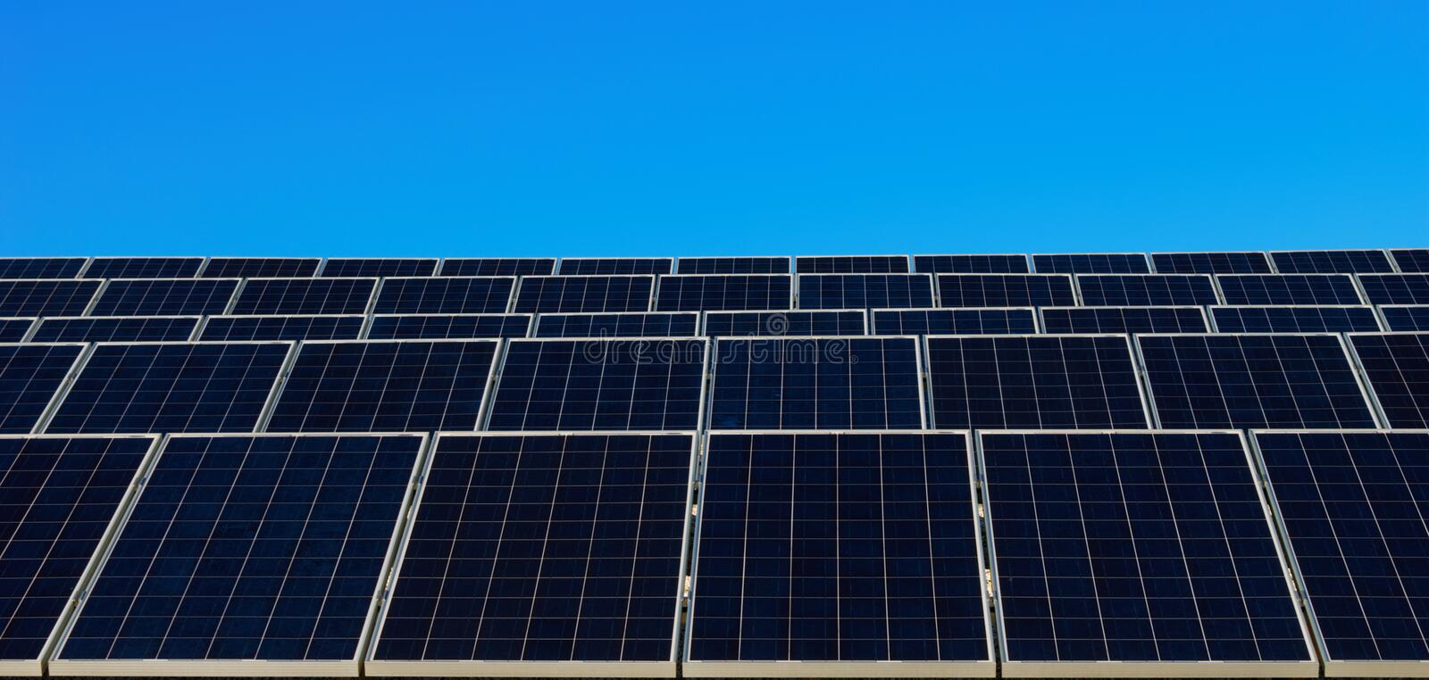 Download Solar panels and blue sky stock photo. Image of innovative - 13421834