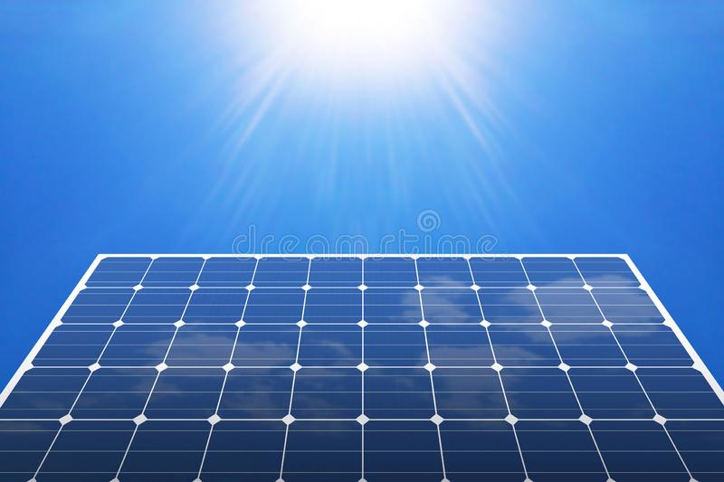 Solar panels. With blue sky stock image