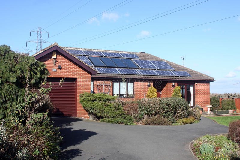 Download Solar Panels On Bungalow Roof Stock Image - Image: 23706453
