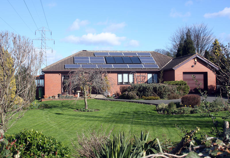 Solar Panels on Bungalow Roof