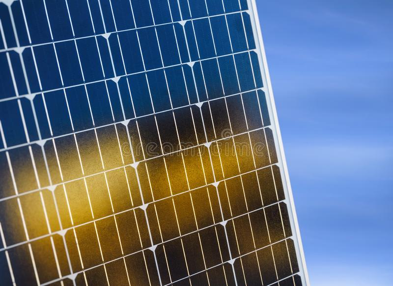 Solar Panels Solar cell Energy saving Ecology Industry concept royalty free stock photography