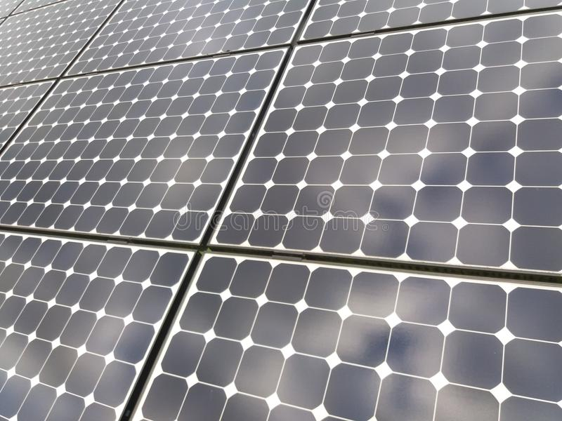Solar panel close up stock photography
