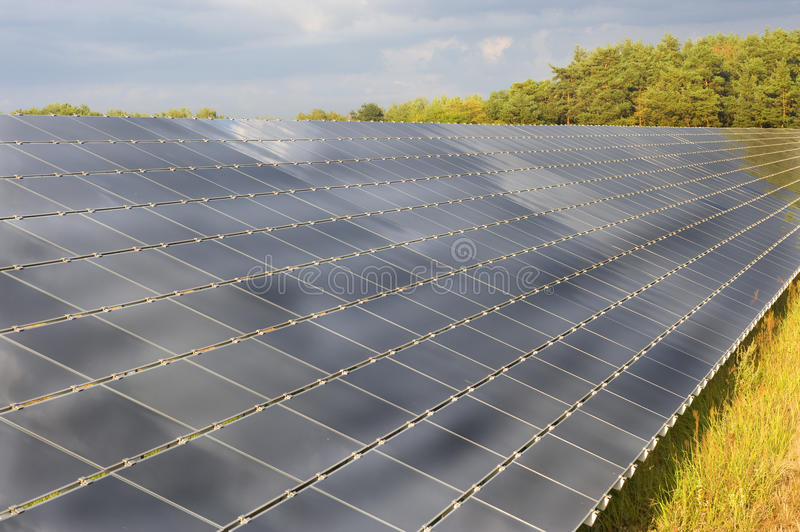 Download Solar panels on a field stock image. Image of modern - 26313351