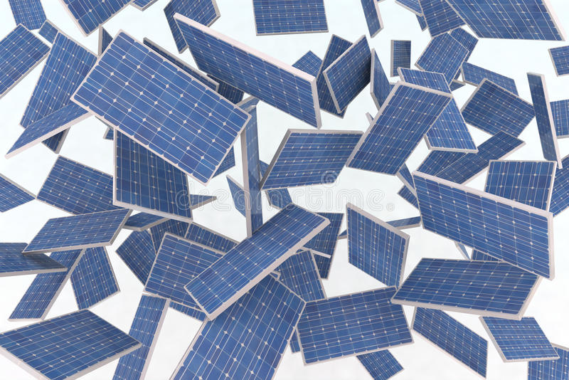 Download Solar panels fly stock illustration. Image of energy - 21930942