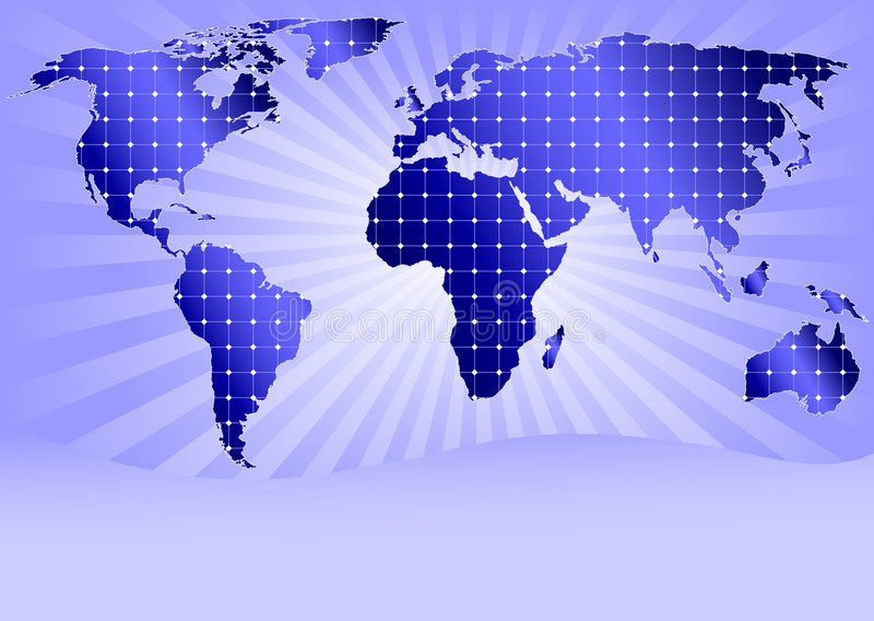 Download Solar Panels Globally (with Space For Sample Text) Royalty Free Stock Photo - Image: 7932595