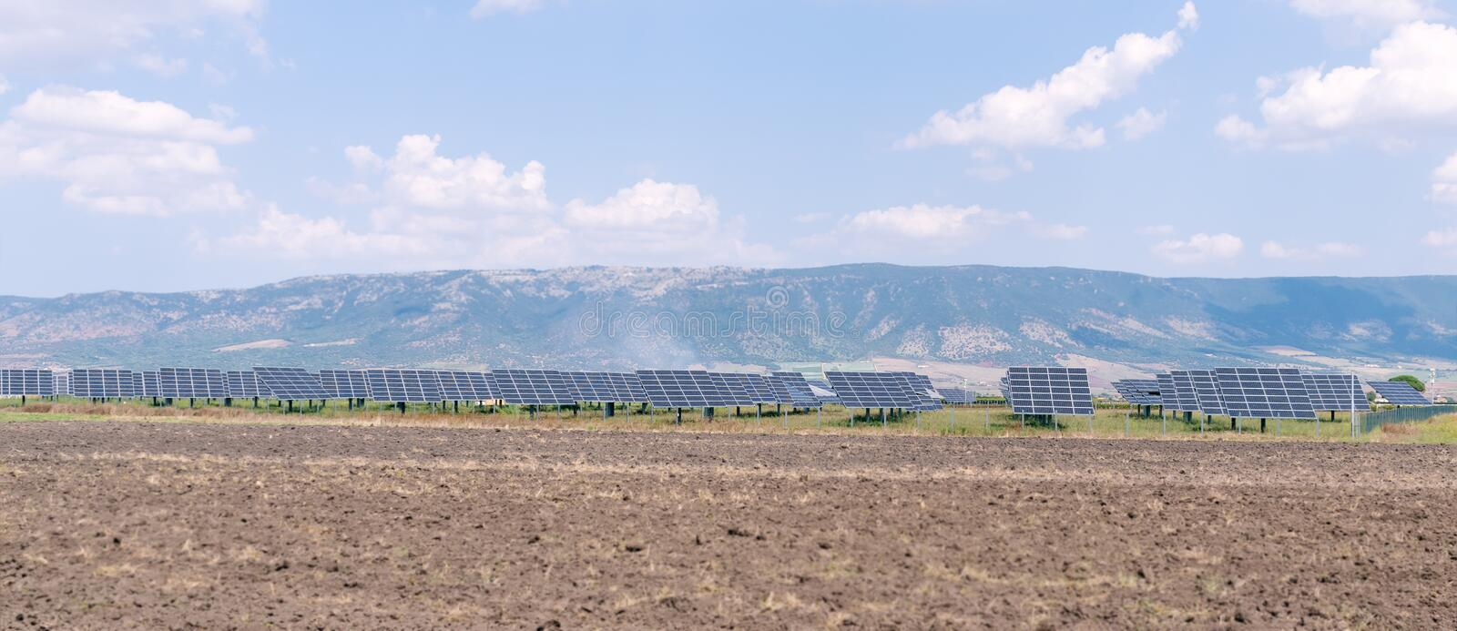 Solar panels green energy. Photovoltaic technology renewable energy concept. Solar panels energy. Photovoltaic technology renewable green energy concept. On a stock images