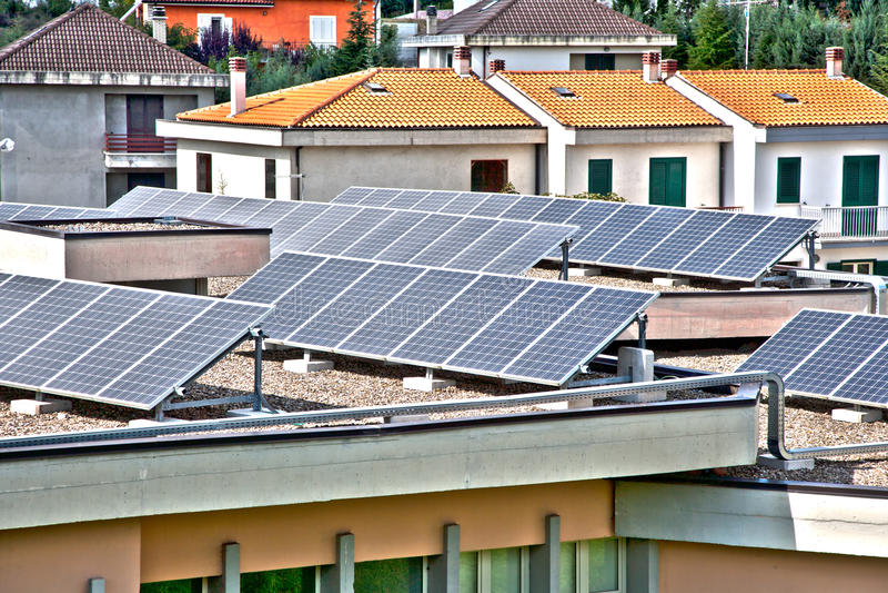 Solar Panels On House Royalty Free Stock Image
