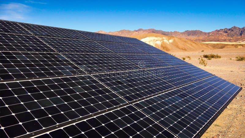 Solar Panels in Mojave Desert royalty free stock images