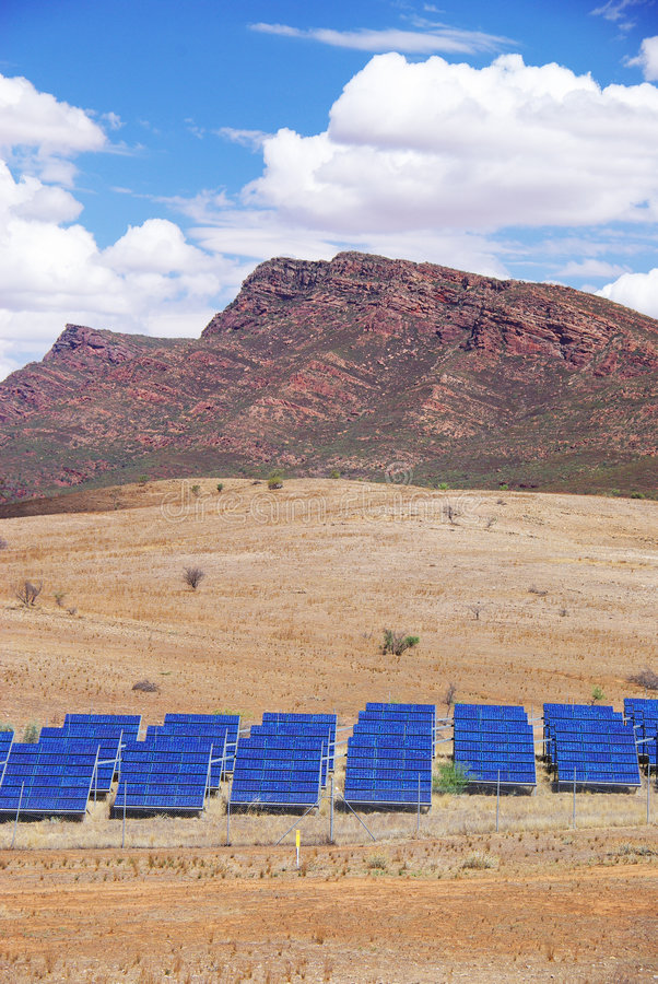 Download Solar Panels & Mountains stock photo. Image of cell, hill - 8636810