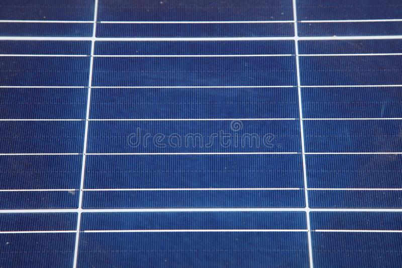 Installation of solar panels. Solar panel produces green, environmentally friendly energy from the sun. stock image
