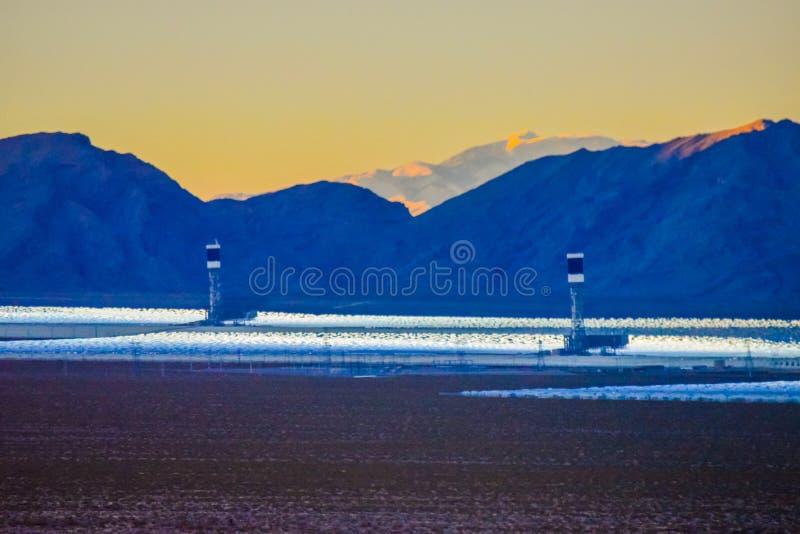 Solar panels Nevada royalty free stock images