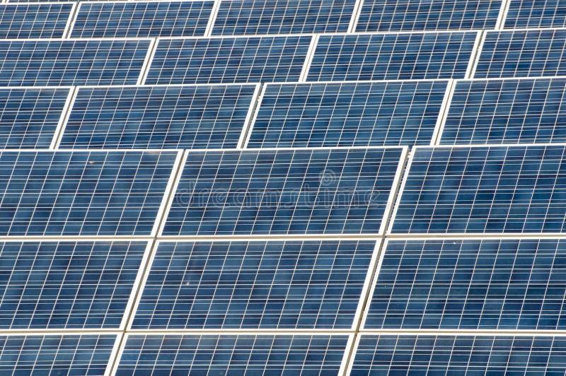 Solar Panels. Solar panel plant, a renewable energy royalty free stock images