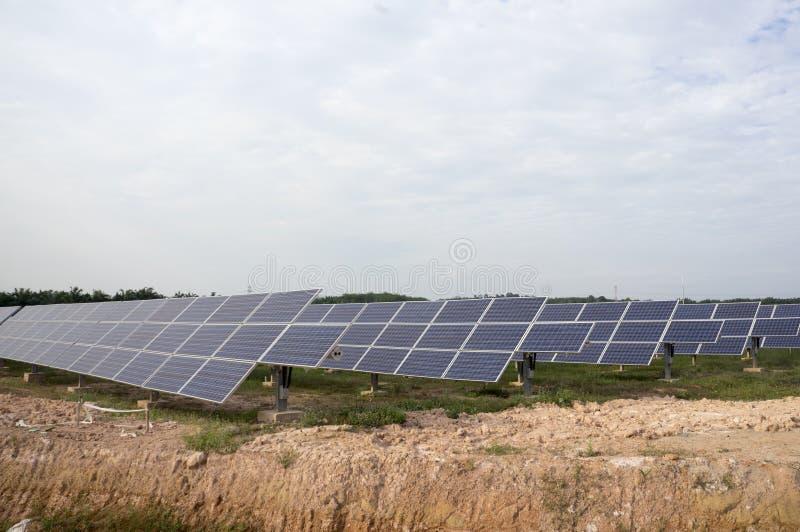 Solar Panels. Solar panel plant, a renewable energy royalty free stock image