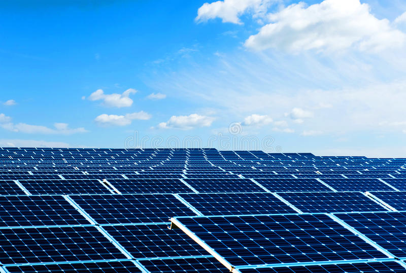 Solar panels. Photo of the solar panels as renewable source of energy stock images