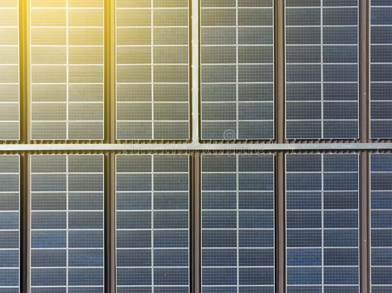 Solar panels, Solar plants are devices that convert light into electricity.Solar panel can be used to generate electricity through. Photovoltaic effect stock image