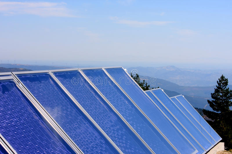 Download Solar Panels In Portuguese Mountains Stock Image - Image: 18926031