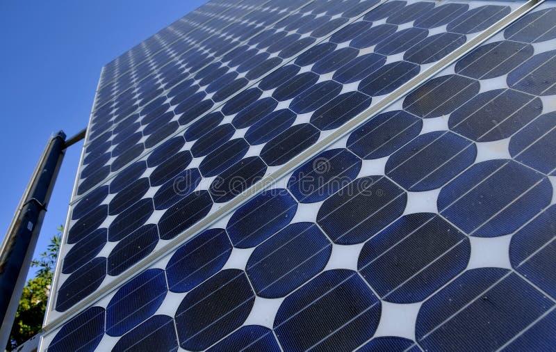 Solar Panels Producing Power royalty free stock photos