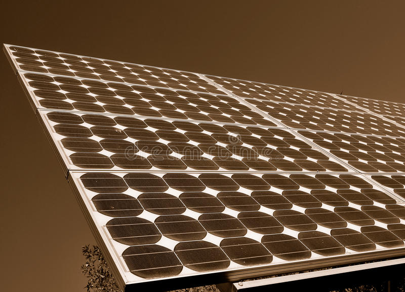 Download Solar Panels Producing Powerage Stock Photo - Image: 10670986