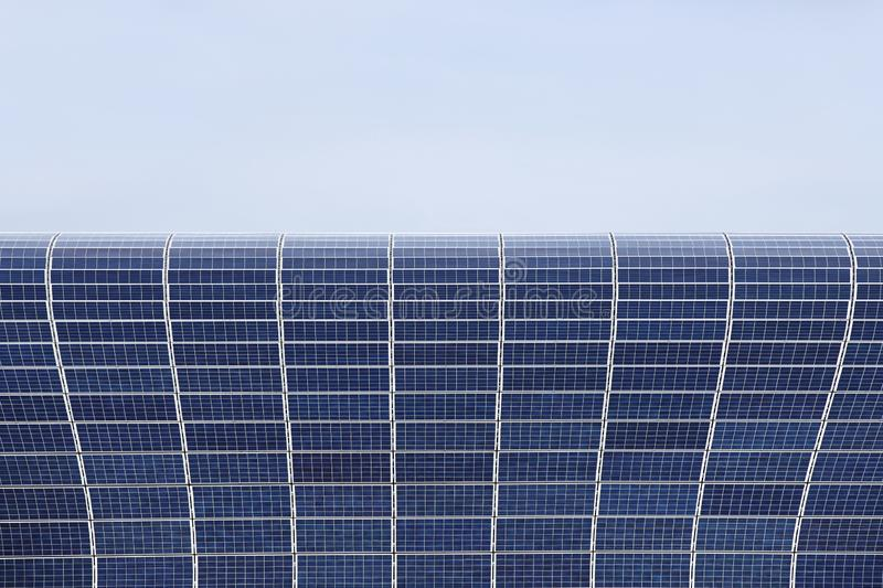 Solar panels for the production of electrical energy from solar energy. Environmentally friendly energy resource. Silicon cells. Photovoltaic cells. Tools stock images