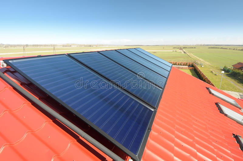 Solar Panels On The Roof. Royalty Free Stock Photos