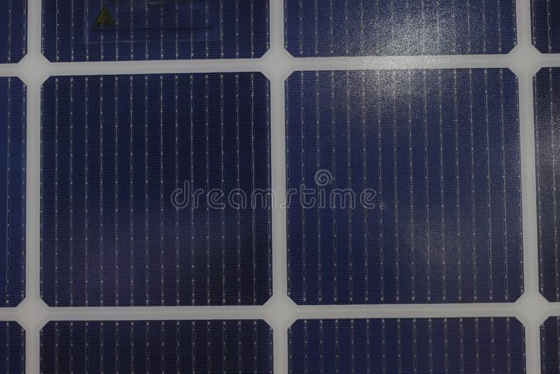 Solar panels Show in an Exhibition;solar energy;eco-friendly technology. Bangkok Thailand royalty free stock photos