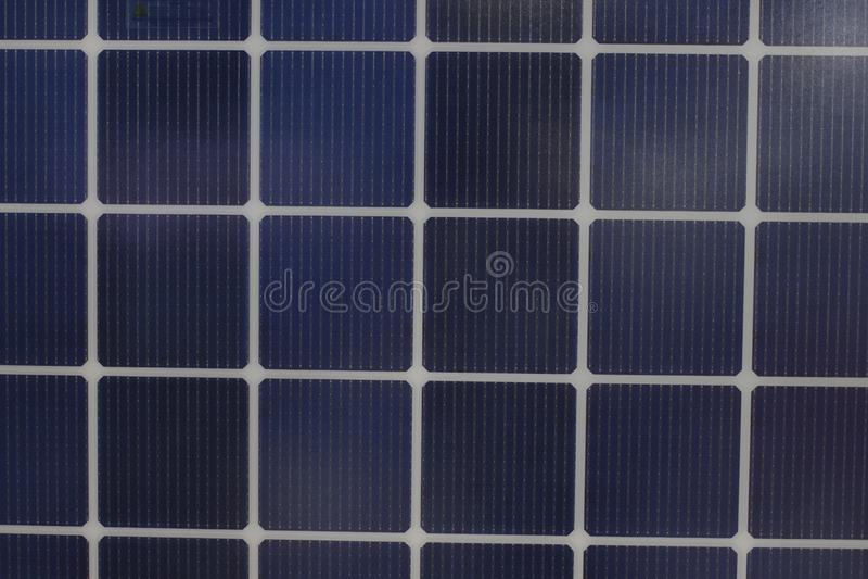 Solar panels Show in an Exhibition;solar energy;eco-friendly technology. Bangkok Thailand royalty free stock image