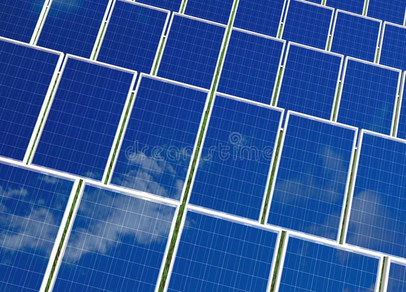 Download Solar Panels System. Green Energy From Sun. Royalty Free Stock Photography - Image: 19633767