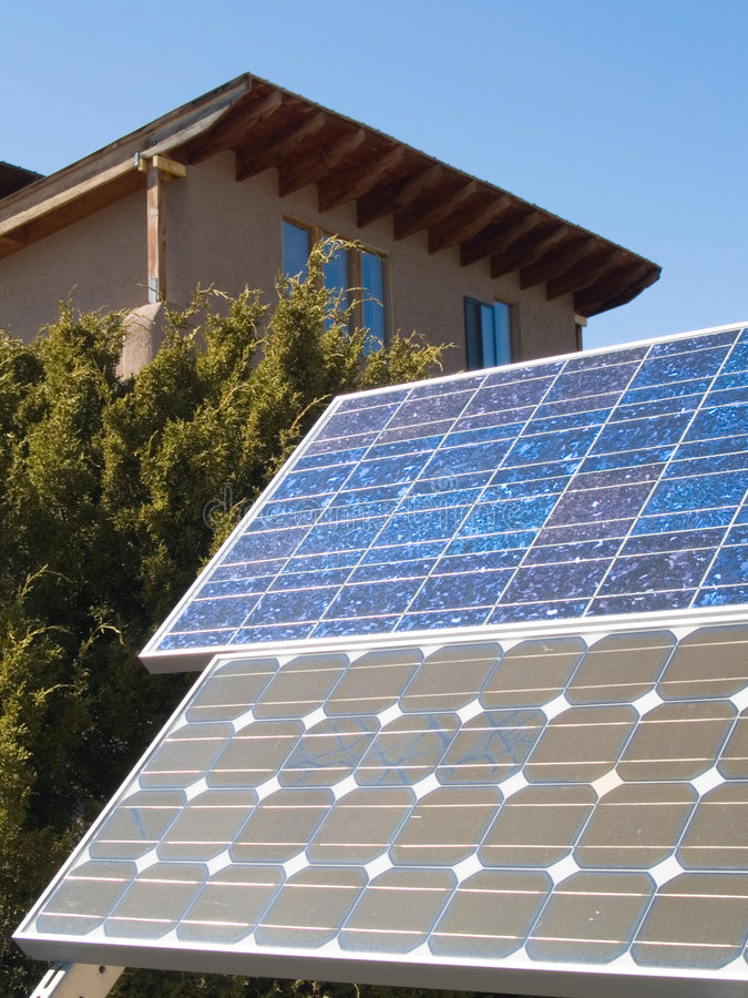 Download Solar Panles In Front Of A Private Home Stock Photo - Image: 6698784