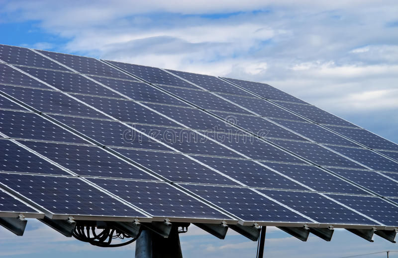 Solar pannels. Colecting energy from the sun royalty free stock photography