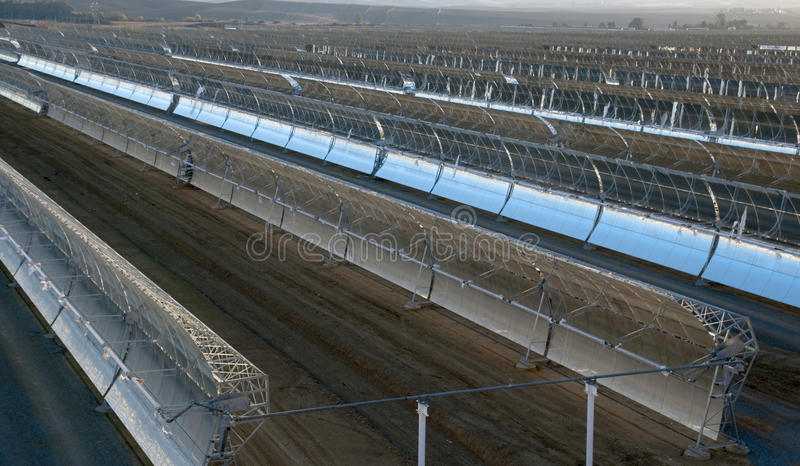 Download Solar parabolic mirrors stock photo. Image of electrical - 12282616