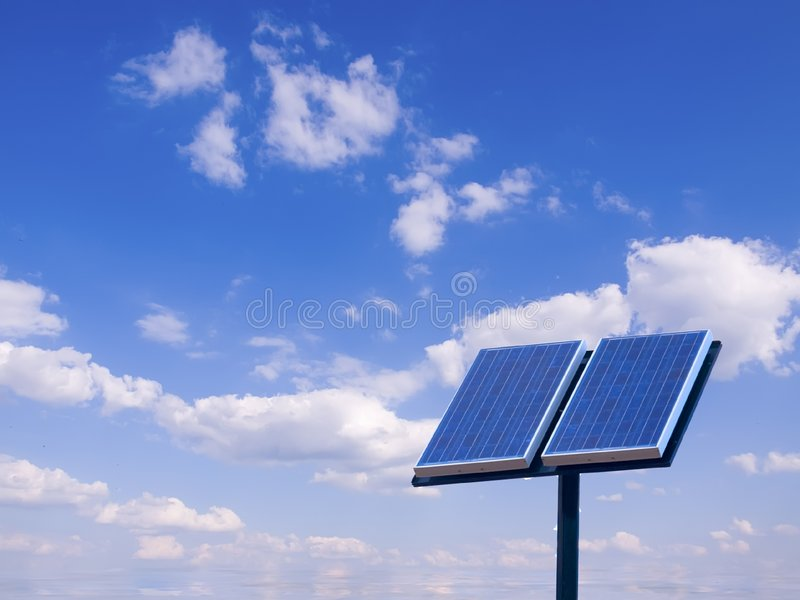 Solar photovoltac panel stock images