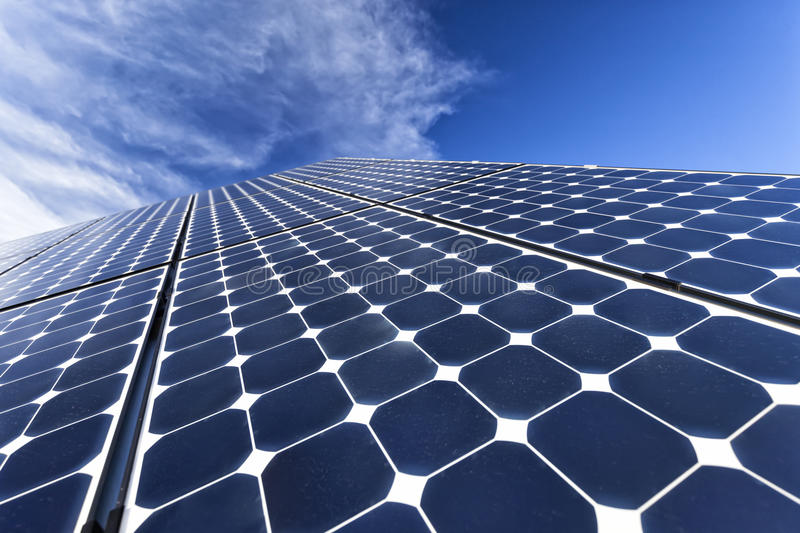 Solar photovoltaic cells. New solar photovoltaic cells, clean energy royalty free stock image