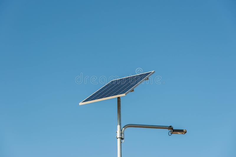 Solar photovoltaic panel close up shot on a sunny day royalty free stock photos