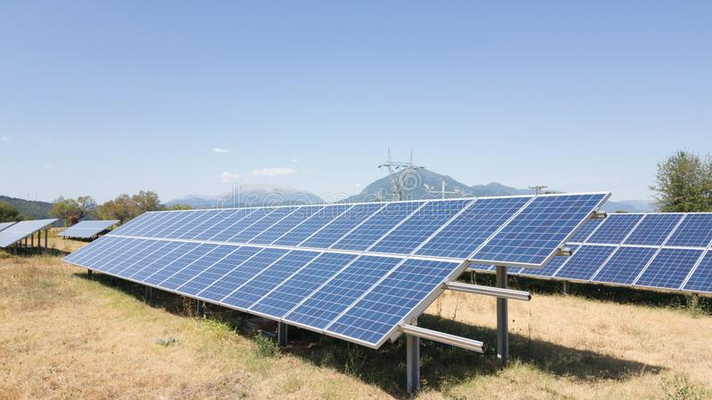 Solar photovoltaic park energ royalty free stock images