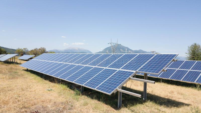 Solar photovoltaic park energy royalty free stock photography