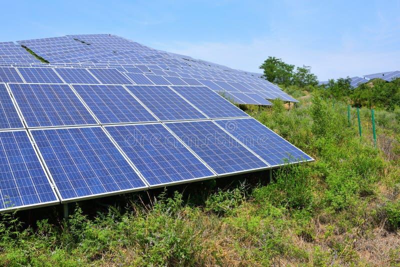 Solar photovoltaic power generation royalty free stock photos