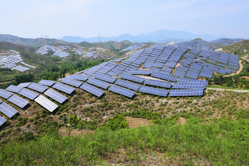 Solar photovoltaic power generation stock photography
