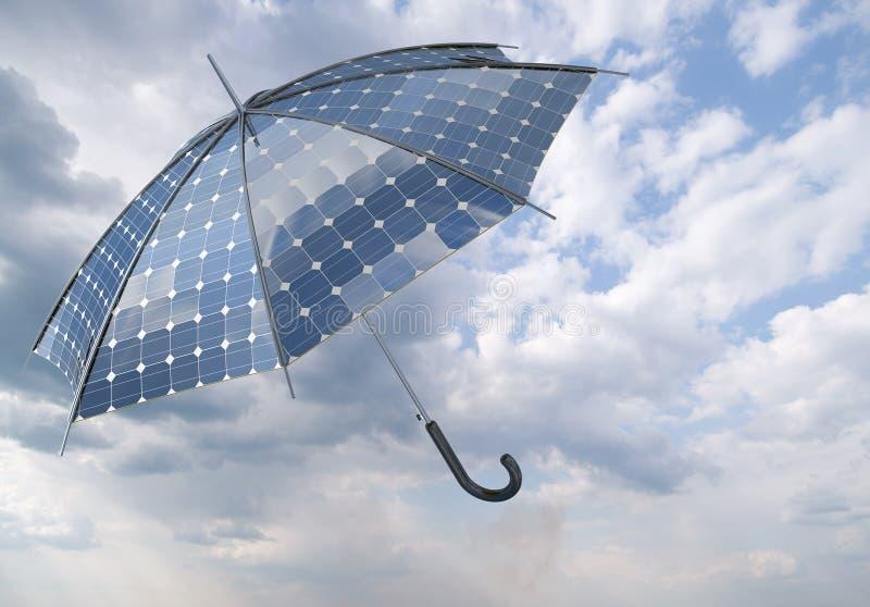 Solar photovoltaic umbrella royalty free stock images