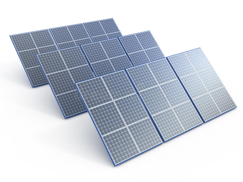 Download Solar plant stock illustration. Image of generation, regenerative - 21107912