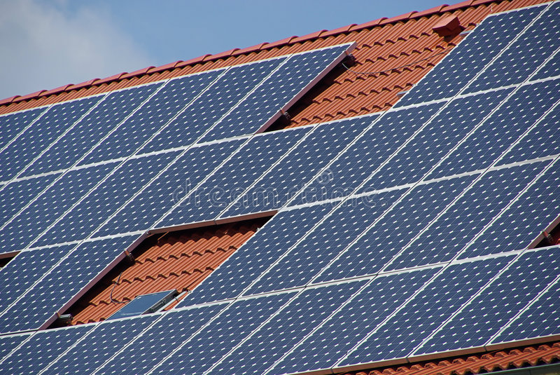 Solar plant 35 royalty free stock photos
