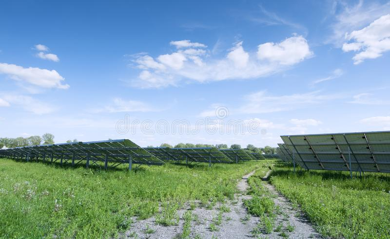 Solar plant stock image
