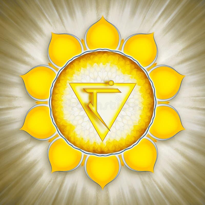 Solar Plexus Chakra Symbol royalty free illustration